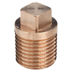"Photo VIEGA Gunmetal fittings Plug, quadratic, bronze, R 2"" [Code number: 268213]"
