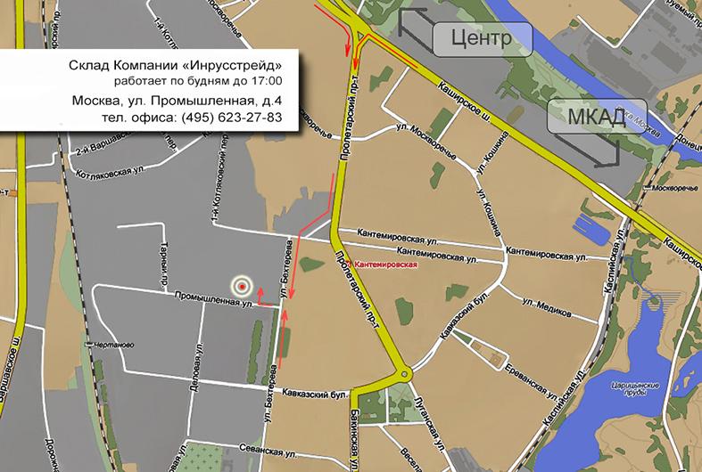 Пешеходный маршрут к складу