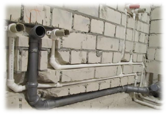 Features of installation drainage pipes