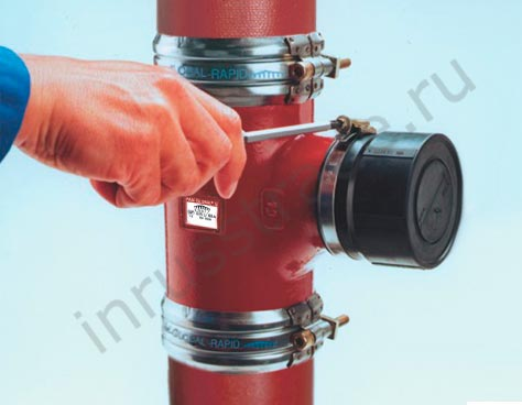 KONFIX connecting element is pushed onto the PAM pipe