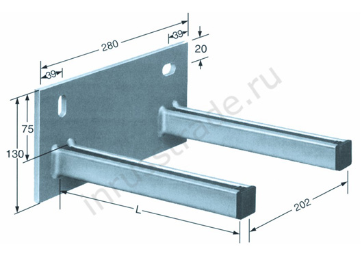 Cantilever arms galvanized
